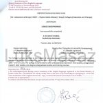 Certificate of completion of Palpation Anatomy - Translation.