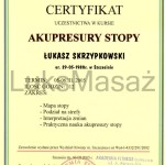 Certificate of completion Acupressure Feet.