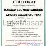 Certificate of completion Massage Segmental.