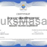 Certificate of completion Deep Tissue Massage.