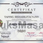 Certificate of completion Taping Rehabilitation.