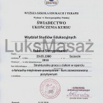 Diploma course of Advanced course of Structural Bodywork.
