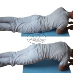 Exercise strengthen the abdominal muscles.